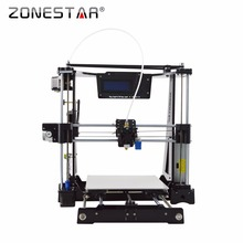 Free Shipping High Precision Easy Level Acrylic Reprap  i3 3D printer DIY kit Bowden Extruder LCD Gift SDcard Filament Tool