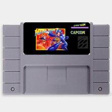 Megaman 7 EUA Versão de 16 bits Big 46 pinos Cinza Cartão de Jogo Para O Jogador Do Jogo NTSC