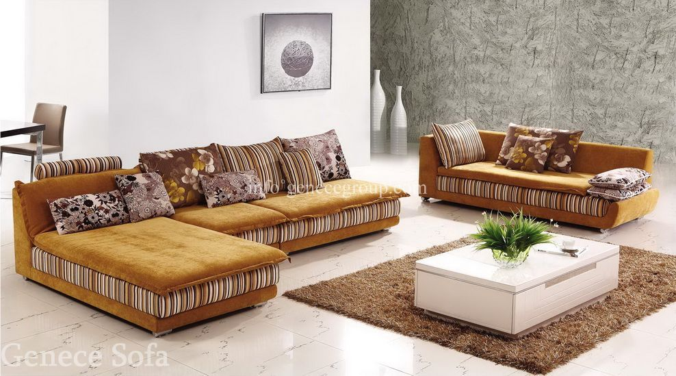 Middle East Style Fabric Sofa, Chaise, Queen, Lounge Furniture, Modern  Living Room