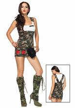 Free Shipping Army Fancy Dress Costume 3F1539 Hot Selling Women sexy Halloween costumes Sexy party cosplay