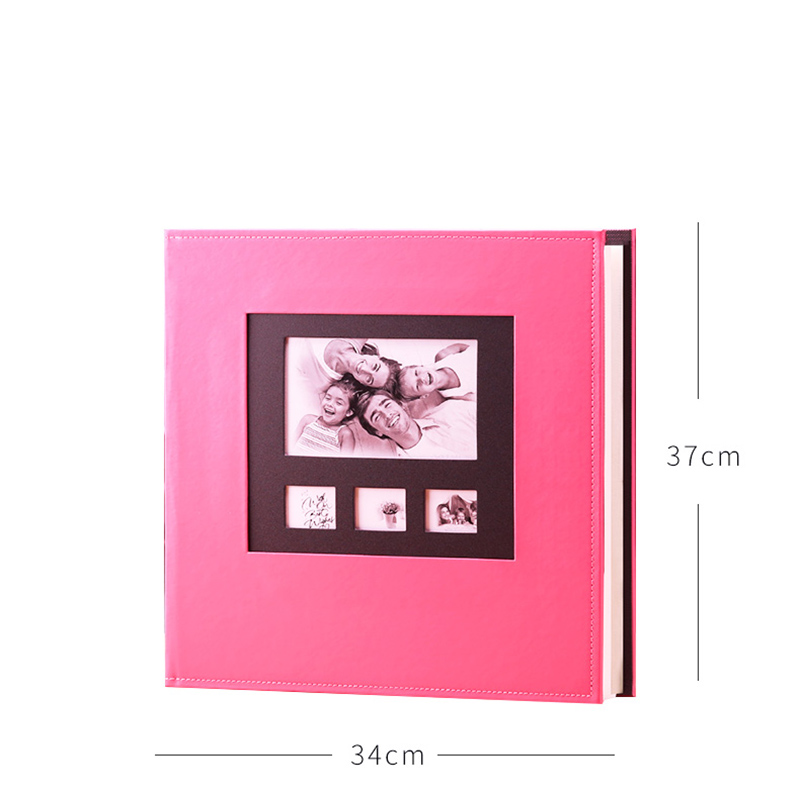 2019 New Photo Album 6 Inch Plastic 600 Large Volume Insert Quality Leather Family Baby Growth