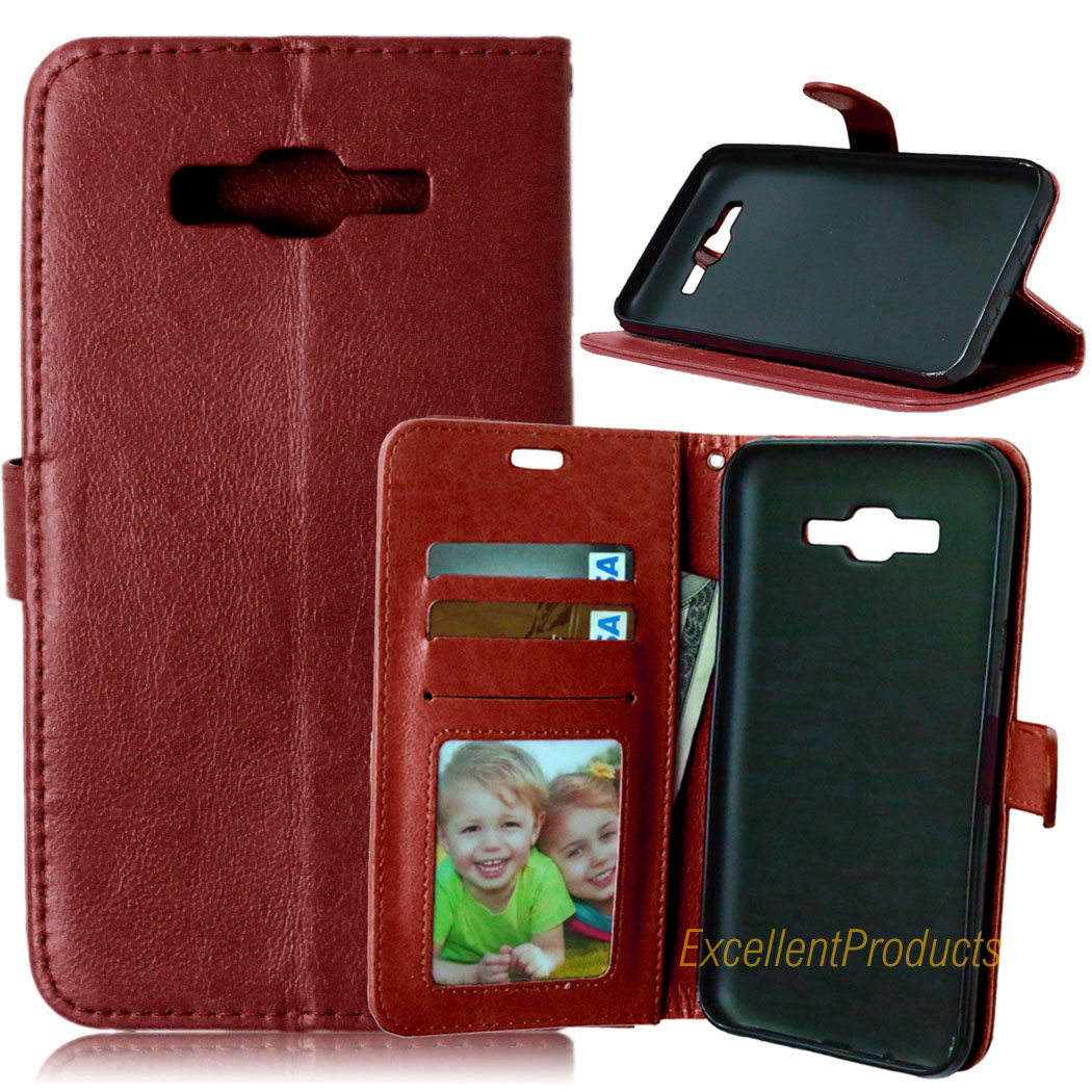 For Samsung J7 2015 Case Flip Leather Vintage Retro Wallet With Card Slot Fundas Phone C ...