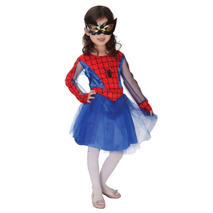 Spider Girl Costumes Children Spiderman Cosplay Dance Dress For Kids Christmas Halloween Fancy Masquerade Party Clothing