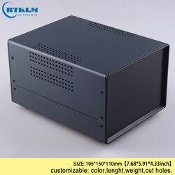 Caja de hierro para proyecto caja de hierro fuente de alimentación equipo estuches diy caja de conexiones diseño personalizado caja de hierro 195*150mm