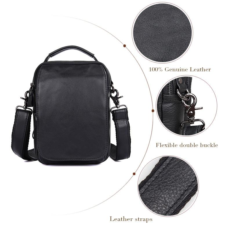 J.M.D  Genuine Leather Sling Bag Shoulder Bags For Mens Small Daily Messenger Bag 1012A/QJ.M.D  Genuine Leather Sling Bag Shoulder Bags For Mens Small Daily Messenger Bag 1012A/Q