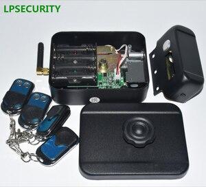 Image 5 - LPSECURITY питание от аккумулятора 4 пульта дистанционного управления беспроводные наружные ворота дверь замок Электрический Болт замка (батарея в комплект не входит)