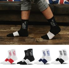 Fashion Casual Red Strip White Color Sport Long Cotton Socks for Women and Men Letter Socks for Female Harajuku calcetines(China)