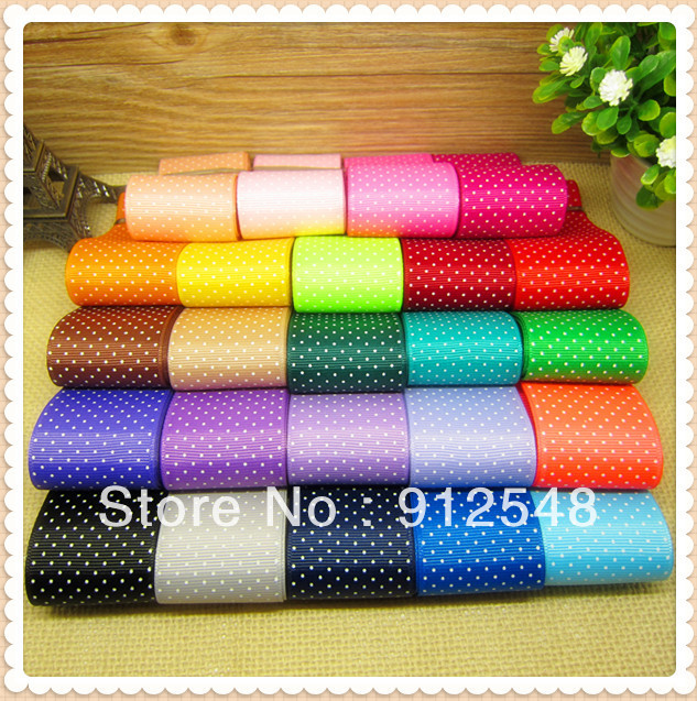 Free Shippping 1-1/2 Inch Dots Polka Grosgrain Ribbon(MIX 24 colors),The Tape for Sewing,DIY Hair Accessories,MNYD26,24 yards