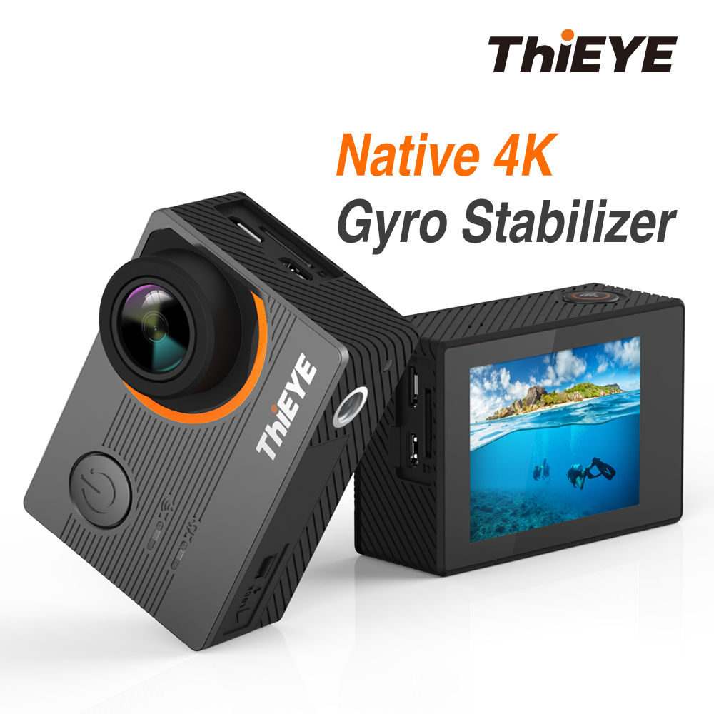 ThiEYE E7 Real 4k 30fps Ultra HD Voice Control Action Camera 2.0 Inch LCD WiFi Waterproof Diving Camara 4K Camera