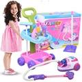 Juguete del bebé tranvía potencia limpiador de limpieza de herramientas juego de cocina juguetes para los niños