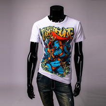 New summer vintage short sleeve o neck 3d printed the pirates shirt men cotton mens t shirts fashion 2016 tops Men's TS226