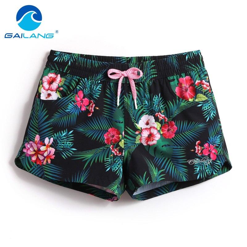 Gailang Brand Summer Quick Drying Women Beach   Shorts   Woman   Shorts   Sports Swimwear Swimsuits Boxer Trunks   Board     Shorts   Bermuda