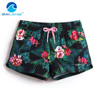 Gailang Brand Summer Quick Drying Women Beach Shorts Woman Shorts Sports Swimwear Swimsuits Boxer Trunks Board Shorts Bermuda