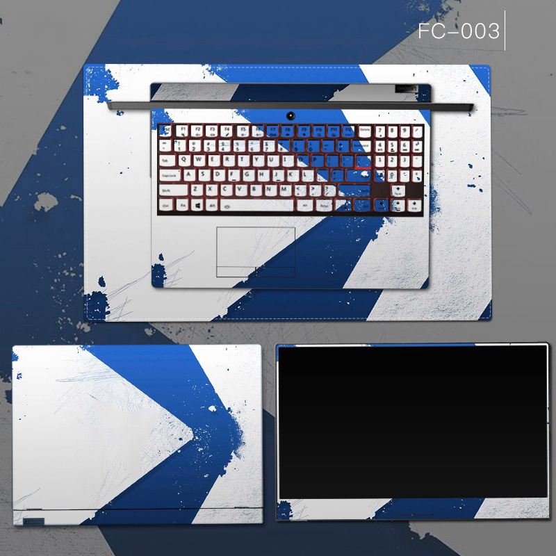 3 sides Laptop Skin Notebook Stickers Case For Macbook Xiaomi Lenovo Dell Asus