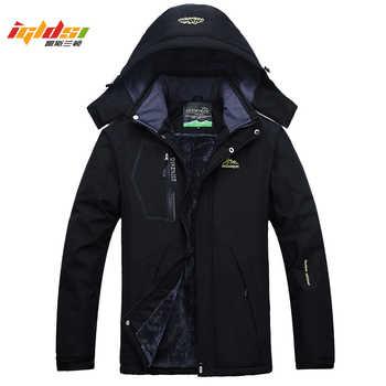 Men's Thick Fleece Winter Down Jacket Outwear Warm Coat Men Windproof Windbreaker Hood Jackets Men Down Parkas Plus Size 4XL 5XL - DISCOUNT ITEM  35% OFF All Category