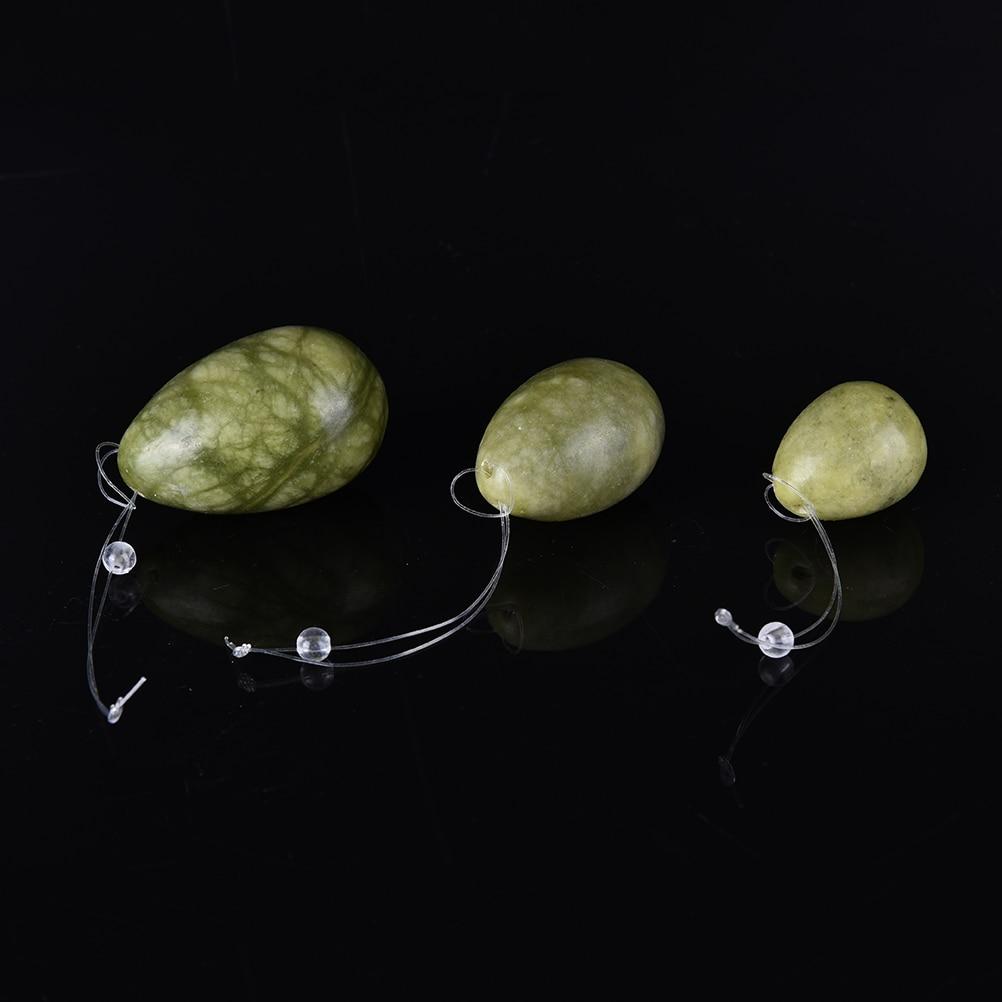 New Arrival Set Of 3 JadeEggs Women Pelvic Floor Muscle Kegel Exercise Vaginal Tightening Exercise Yoni Egg Ben Wa Ball