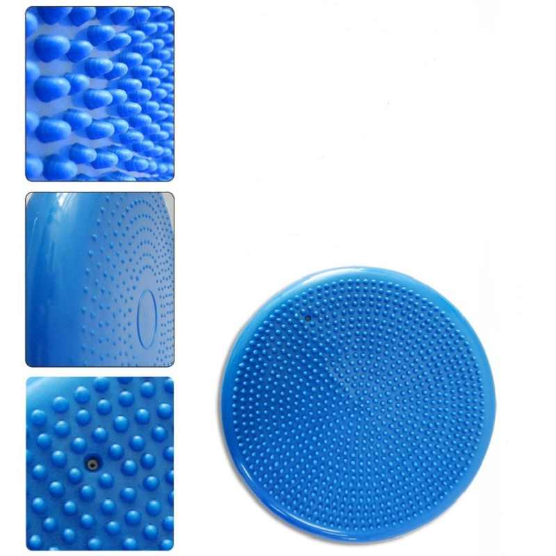 33x33cmDurable Inflatable Yoga Massage Ball Sports Gym Fitness Yoga Wobble Stability Balance Disc Cushion
