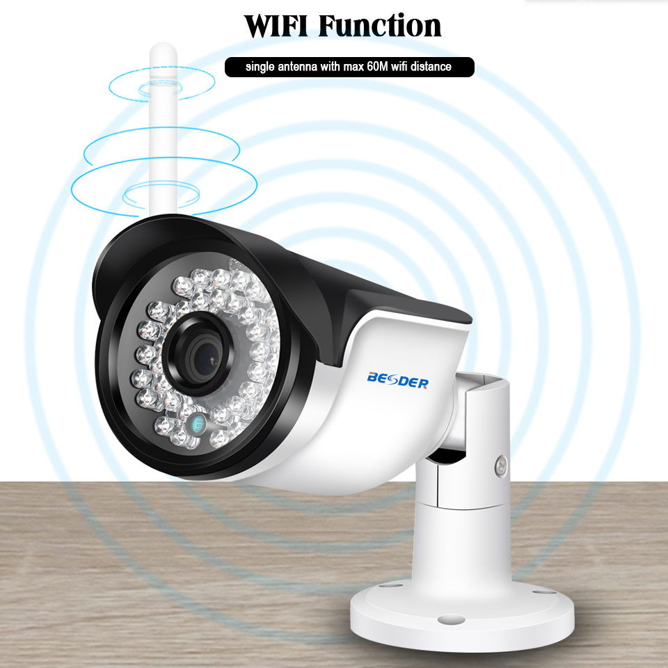 Image 5 - BESDER Wireless Outdoor Security Camera 1080P 960P 720P IR Night Vision Motion Detect ONVIF Bullet IP Camera WiFi + SD Card Slot-in Surveillance Cameras from Security & Protection