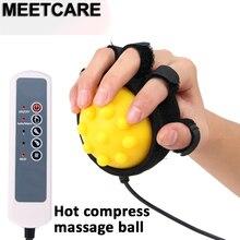 Bola elétrica de massagem manual, ferramenta de treinamento de reabilitação de dedo para recuperação de dedo, equipamento de trem, compressa quente