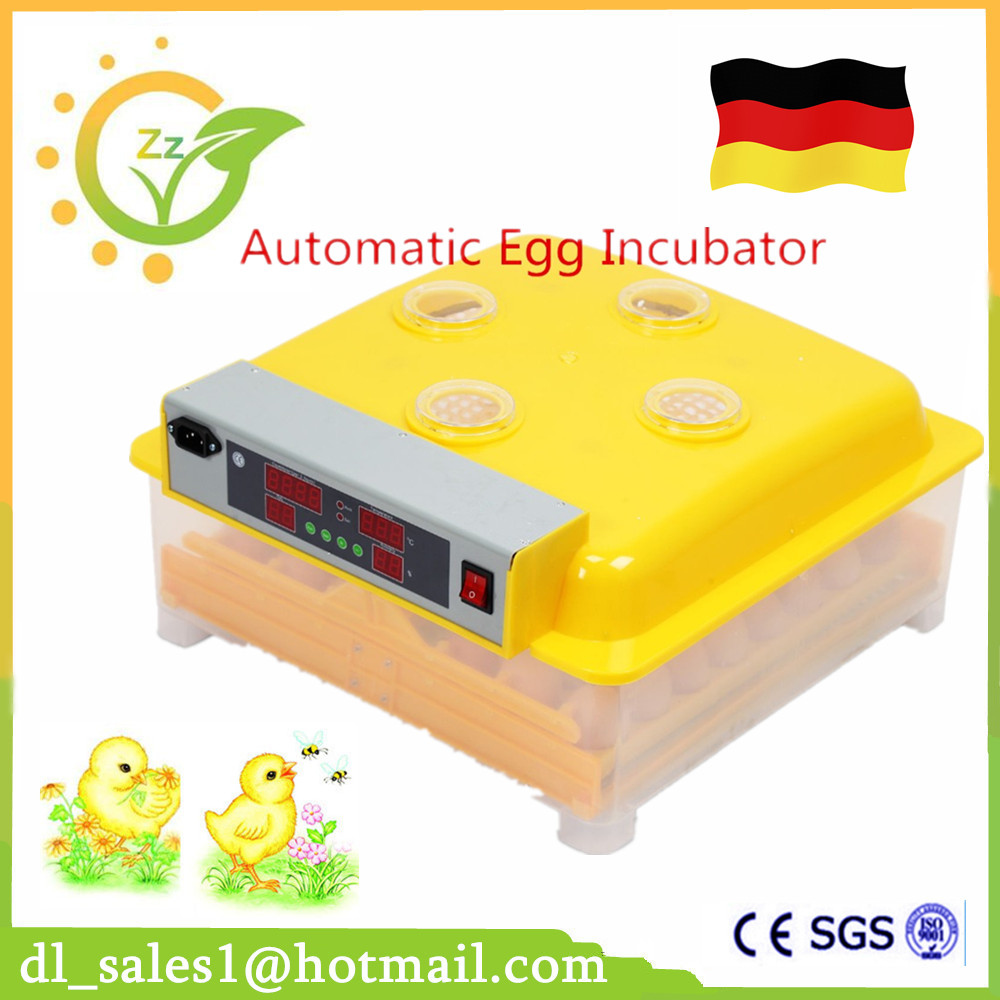 Fully Automatic Egg Turning Incubator 48 Poultry Eggs Transparent Viewing Chicken Duck One by One Tray Hatching Brooder fully automatical turning 48 eggs incubator poultry chicken duck egg hatching hatcher new modle transparent bottom