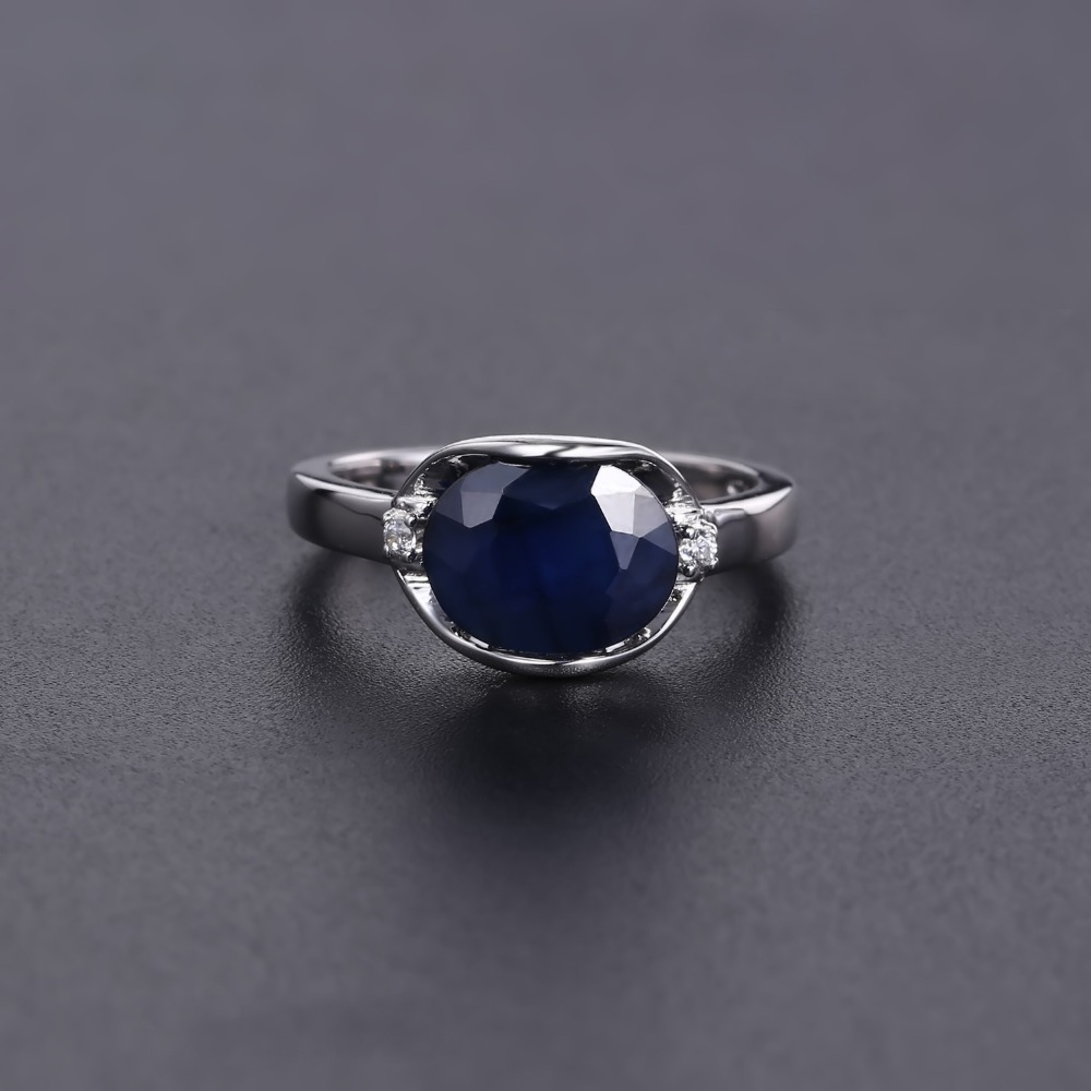 Image 4 - GEMS BALLET 925 Sterling Silver Engagement Rings 3.24Ct Natural 