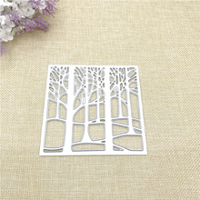 Julyarts New Square Tree Die Metal Cutting Die Stencil for Scrapbooking Photo Album Paper Card Making Die Metal Crafts Die Cut square shape metal cutting die for card gift
