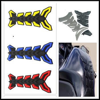 Motorcycle fish bone Pad Oil Gas Fuel Tank Cover Sticker Decal Protector for BMW K1600 GT GTL R1200GS R1200GS ADVENTURE R1200R image