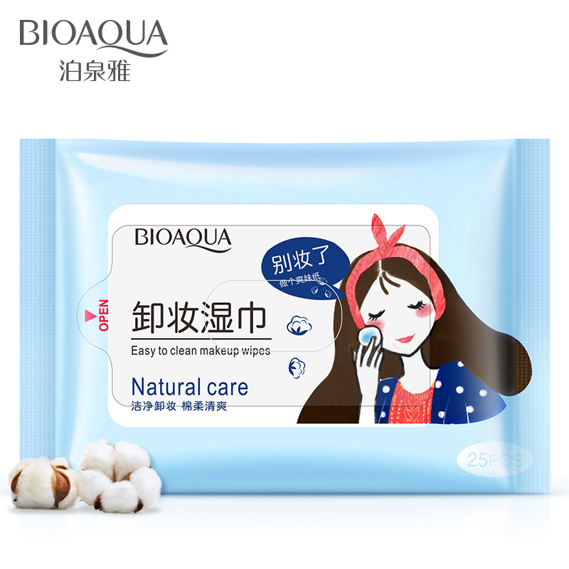 Bioaqua makeup remover wipes 25 deep cleansing moisturizes makeup remover skin care products