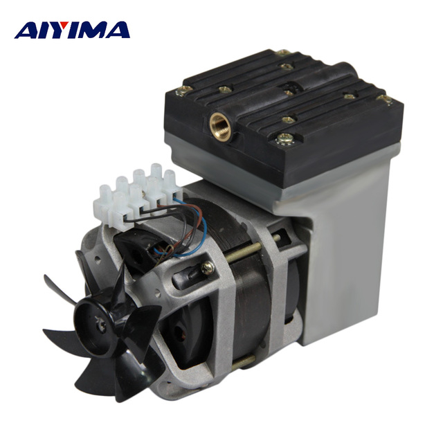 US $96 96 17% OFF AIYIMA AC 220V 80W Oilless Diaphragm Vacuum Pump Electric  Mini 33L/Min Vacuum Flow-in Pumps from Home Improvement on Aliexpress com