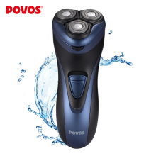 POVOS Men's Washable Rechargeable Rotary Electric Shaver Razor with Pop-up Trimmer 3D Floating Structure ( 110-240V ) PW936