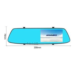 Image 3 - AOSHIKE 4,7 pulgadas grabador de conducción espejo retrovisor para coche grabador Full HD 1080P doble pantalla de grabación Camara de vehiculo dvr