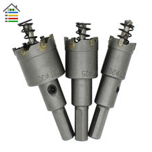 Carbide Tips Core Drill Bits Kit TCT Hole Saw Cutter Tungsten Steel for Metal Drilling Holes Saw Cutter 20 25 30 35 40 45 50mm