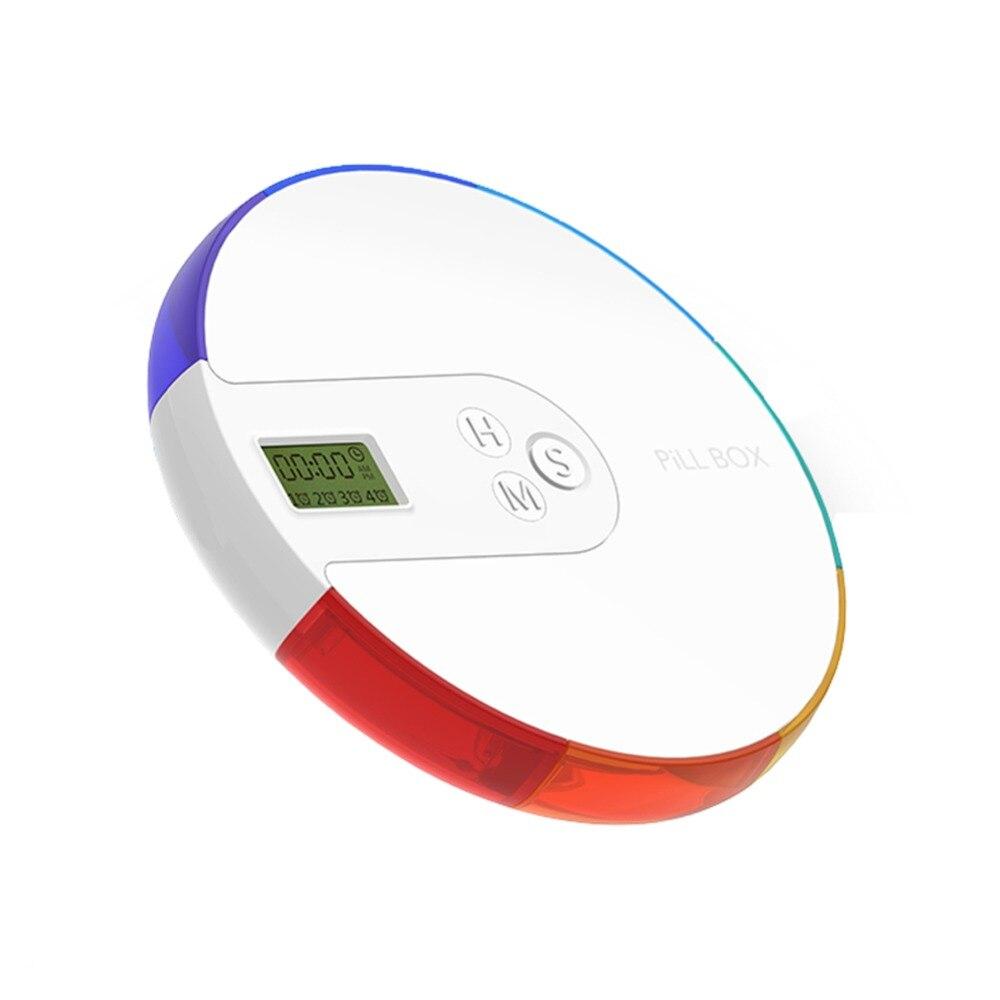 7-day Pill Box Organizer box Dispenser Drug Storage Portable Electronic Alarm