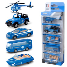 New Fashtion 5pcs Kids Truck Toy Gift Army Vehicle Fire Truck Helicopter  Excavator Alloy Model Cars Set Fire Truck Toy Gift assembling large fire truck toy cars fire truck multi functional parking diy building car vehicle city track sets with light and