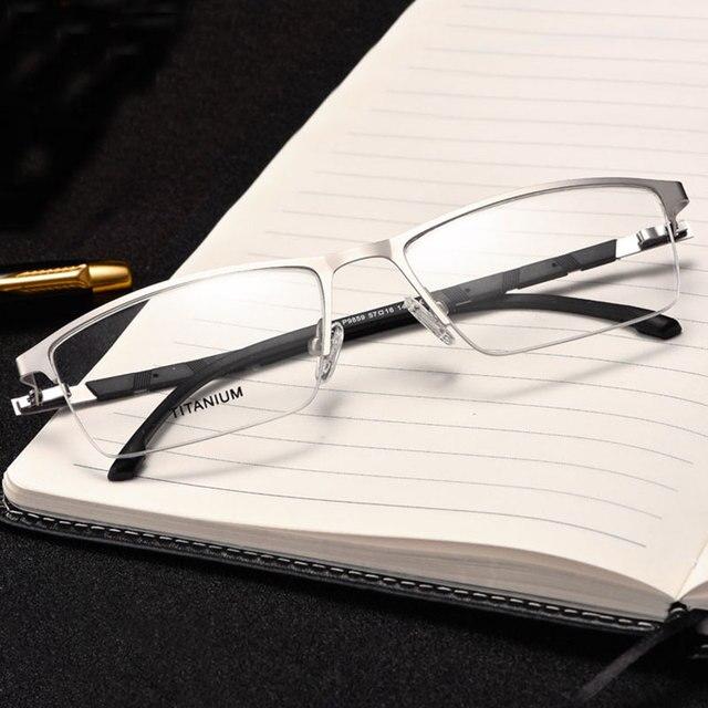Reven Jate P9859 Ottico di Affari Telaio in Titanio Occhiali da Vista per Occhiali Semi Rim Occhiali con 4 Colori Facoltativi