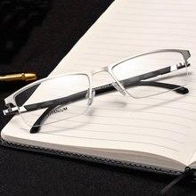 Reven Jate P9859 optycze biznes tytnu ramki okularów dla okulary męskie pół okulary bez oprawek z 4 opcjonalne kolory