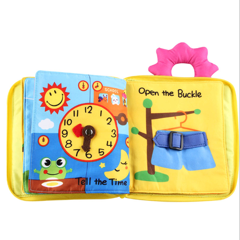 Baby Soft Toys Toddler Early Education Puzzle Cloth Book