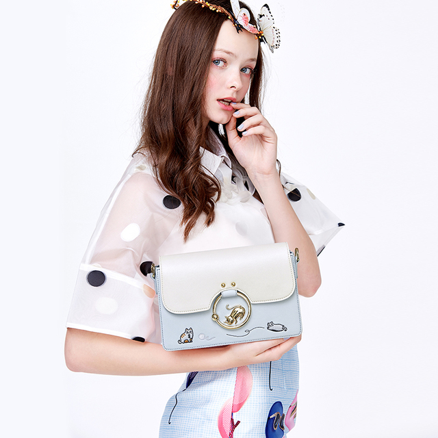 Designer brand bags women Lovely Cat Embroidery leather handbags Shoulder Bag mini bags Woman Messenger Bag purses and handbags