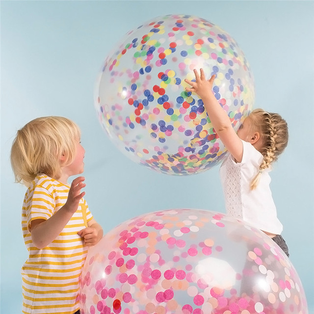 Large Round Inflatable Ball Party Decorations Latex Paper Balloons Birthday Wedding Engagement Kids Toys