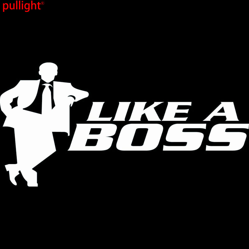 16CM 8 1CM Like A Boss Funny Car Vinyl Sticker JDM Racing For Cars Creative sticker Decoration Car Sticker in Car Stickers from Automobiles Motorcycles