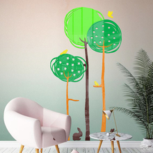 Grove 3d acrylic wall sticker Cartoon Children's room decorative wall sticker Baby nursery waterproof self-adhesive  wallpaper цена