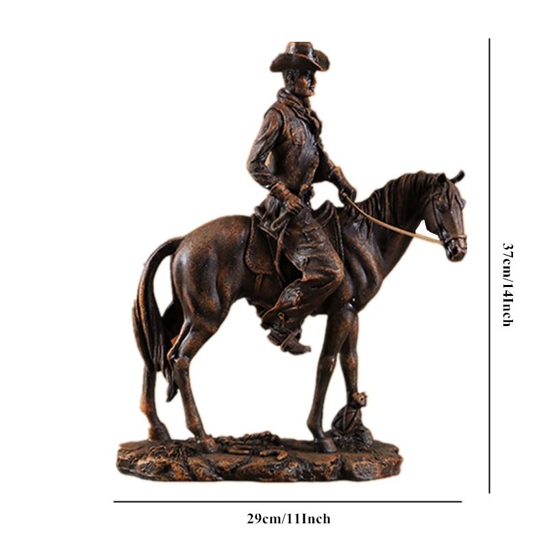 Resin Cowboy Figurine American West