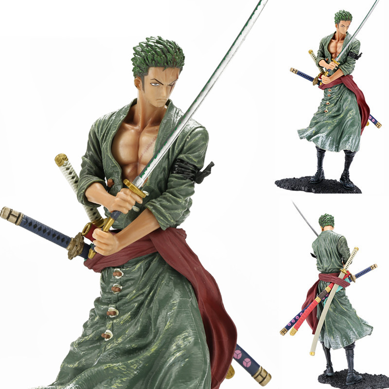 Anime Figurine Action Figure One Piece Roronoa Zoro PVC Doll Model Toy 20cm Christmas toy model toys for children lps toy pet shop cute beach coconut trees and crabs action figure pvc lps toys for children birthday christmas gift