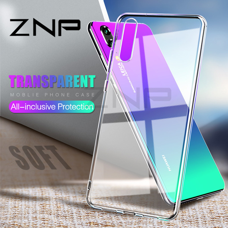 ZNP Silicone Soft TPU Transparent Phone Case For Huawei P20 Lite P20 Pro High Quality Cover Case For Huawei P10 Lite P10 Plus