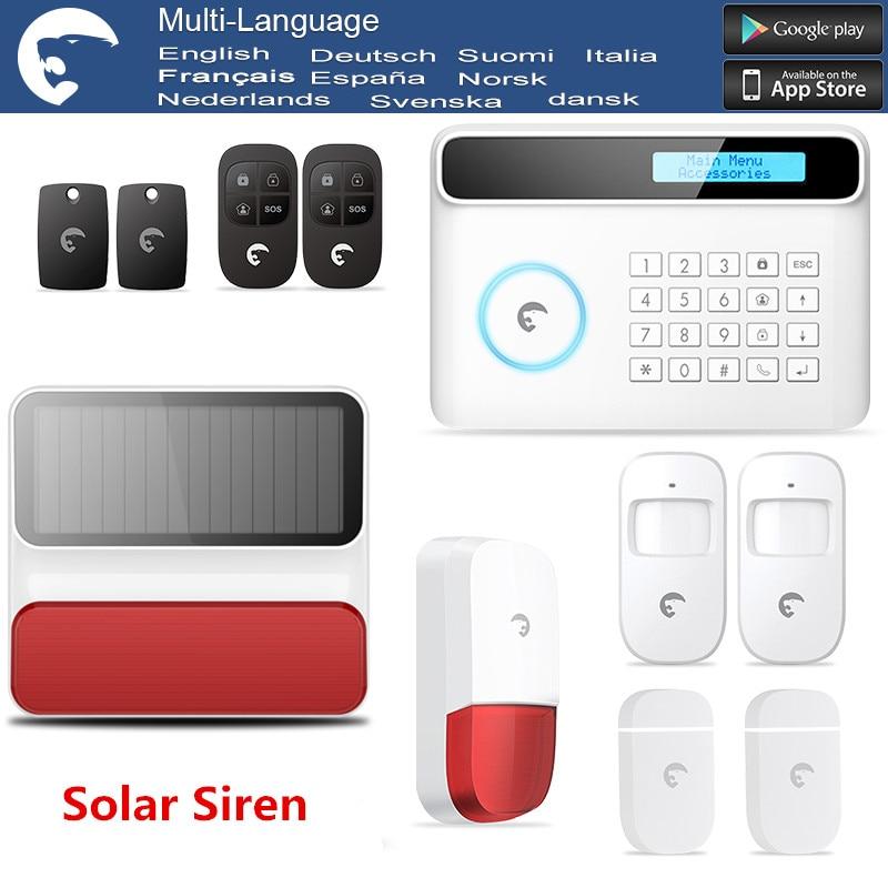 2018 Hot Wireless Etiger S4 GSM Alarm system Smart Burglar Alarm System with Solar-powered Strobe flash Siren Alarm System цена и фото