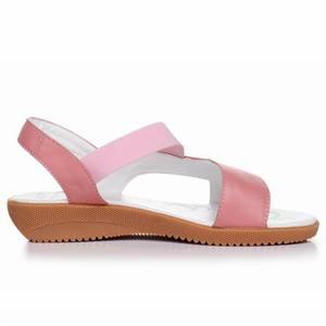 Image 4 - GKTINOO 2020 sandales en cuir véritable pour femmes, été, sandales à talons plats pour femmes, Plus la taille 33 43