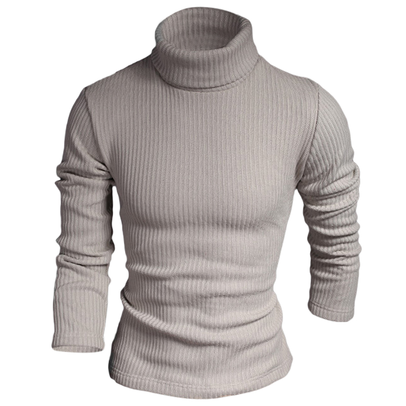 Autumn Winter Men Knitted Sweaters Turtle Neck Solid Color Slim Casual Masculina Tops Jumpers Pullover Blusa Male Clothing