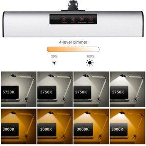 Image 5 - A509S LED Altalena Braccio Architetto Morsetto Lampada da tavolo, 8.4W Redazione HA CONDOTTO LA Lampada per la Lettura/Lavoro (2 Modalità di Illuminazione, 4 livello Dimmerabile)