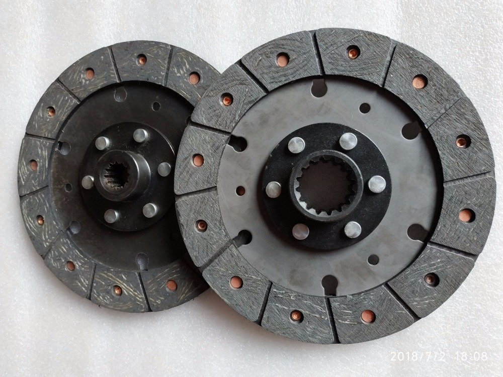 JINMA 254 284 tractor parts, the set of clutch discs, main clutch disc 250.21S.013 , PTO clutch disc 250.21S.015 ft250 21b 011 foton te250 ft254 tractor the 8 inches dual stage clutch with pto disc and release bearing
