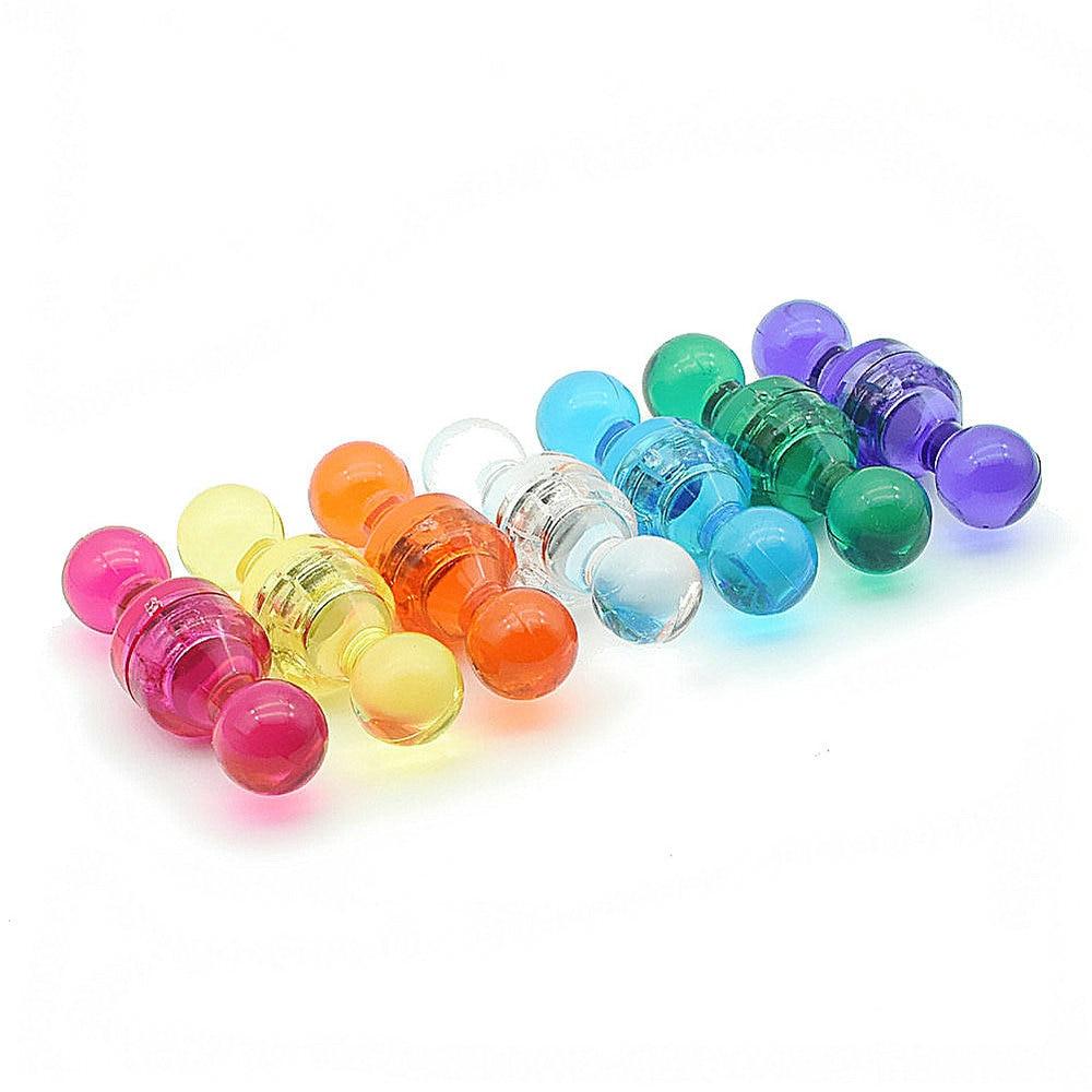 Broche de dessin transparente 7 couleurs disponibles NdFeB punaise magnétique pour la maison de bureau et l'école en utilisant la punaise 28 pièces/paquet
